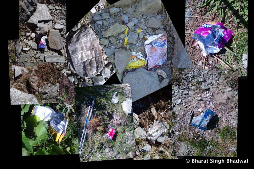 Trail cleanup. Jia-Aadi Himani Chamunda